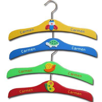 Perchas para ni os personalizadas regalos con su nombre - Perchas para ninos ...