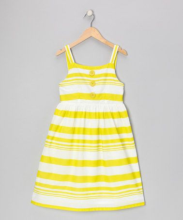 Take a look at this Lime Stripe Dress by Apollo on #zulily today!
