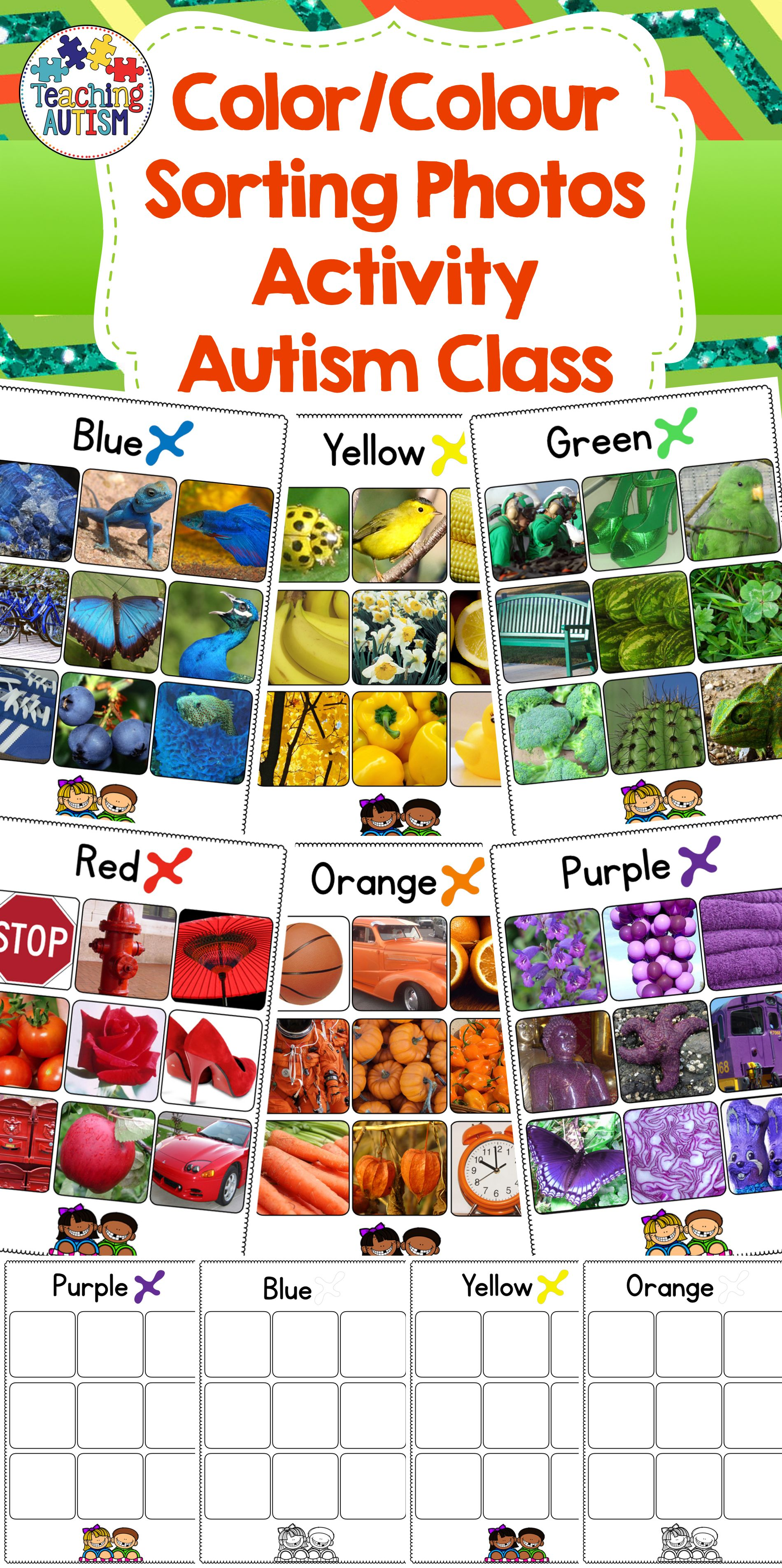 Color Sorting Photos Colour Sorting Photos