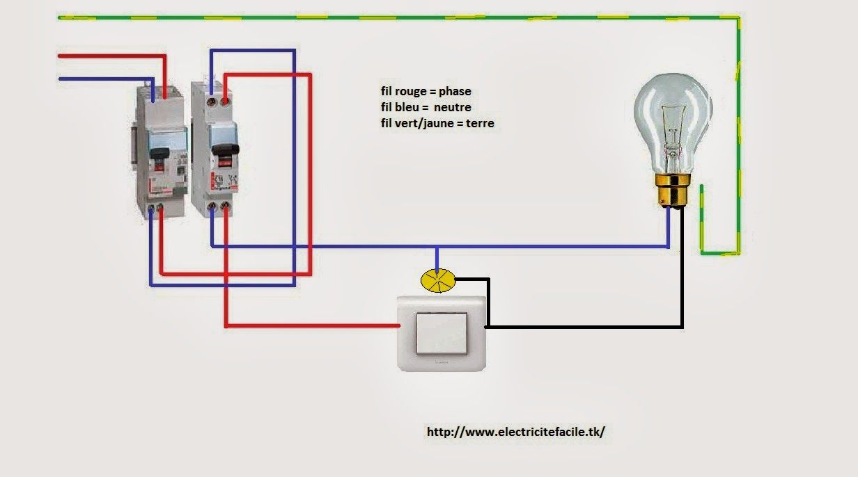 Si Vous Voulez En Savoir Plus Sur Le Circuit Du Simple Allumage Avec Temoin Ou Voyant Schema De Cablage Interru Cablage Interrupteur Interrupteur Simple Schema