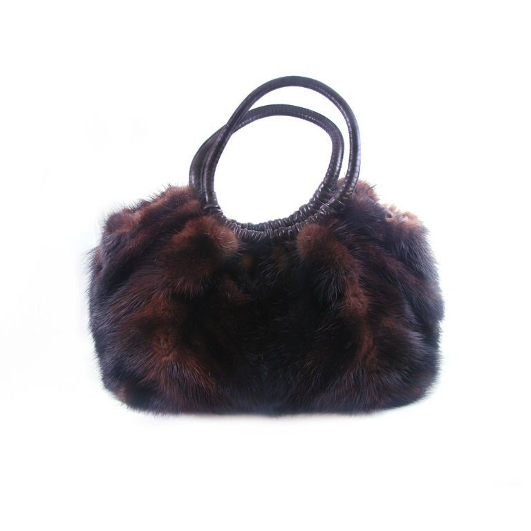 1stdibs Black Mink Fur Bag