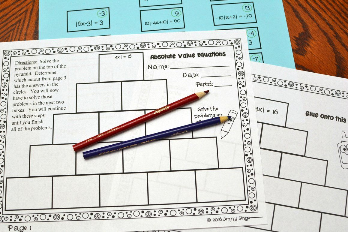 Algebra Interactive Notebook In With Images