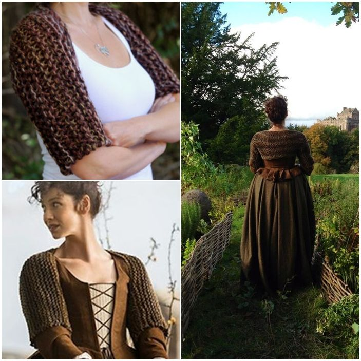 Back of the brown bodice Claire