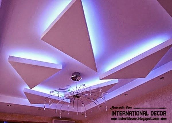 LED ceiling lights LED strip lighting in the interior  Projects