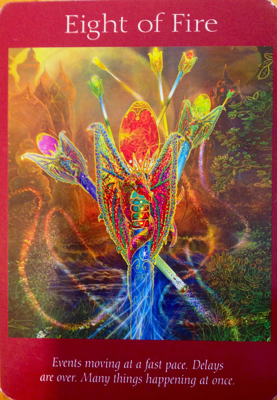 Angel Tarot Card ~ Eight Of