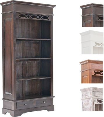 Bücherschrank ERNEST handgefertigt aus Mahagoni-Holz, Bücherregal