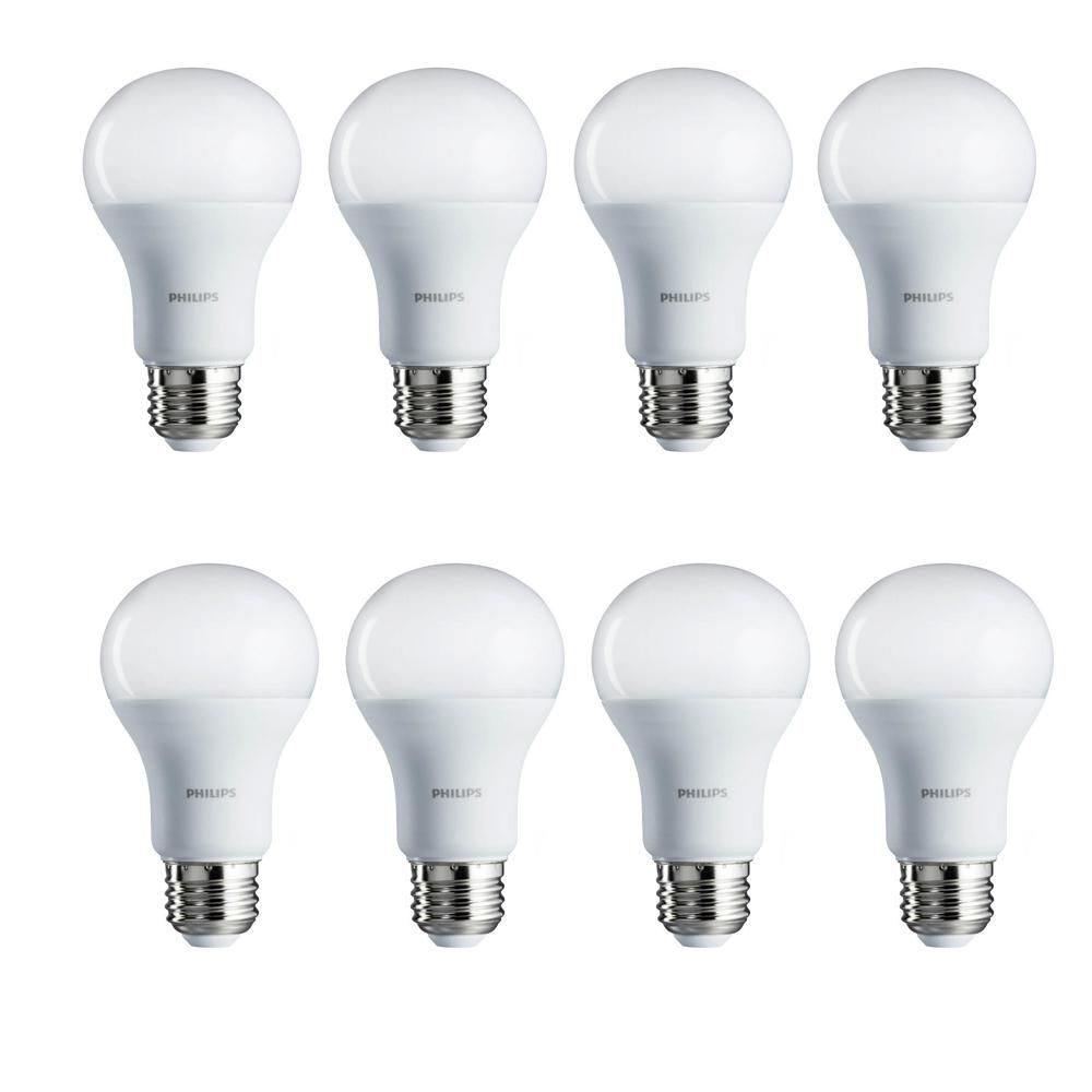 100 Watt Equivalent A19 Non Dimmable Energy Saving Led Light Bulb Soft White 2700k 8 Pack Bulb Light Bulb White Light Bulbs