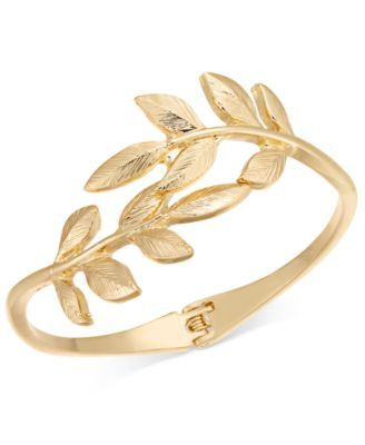 fpx n s flower hinged bangle bracelets macys shop gold for macy c bracelet bangles tone product i created motif