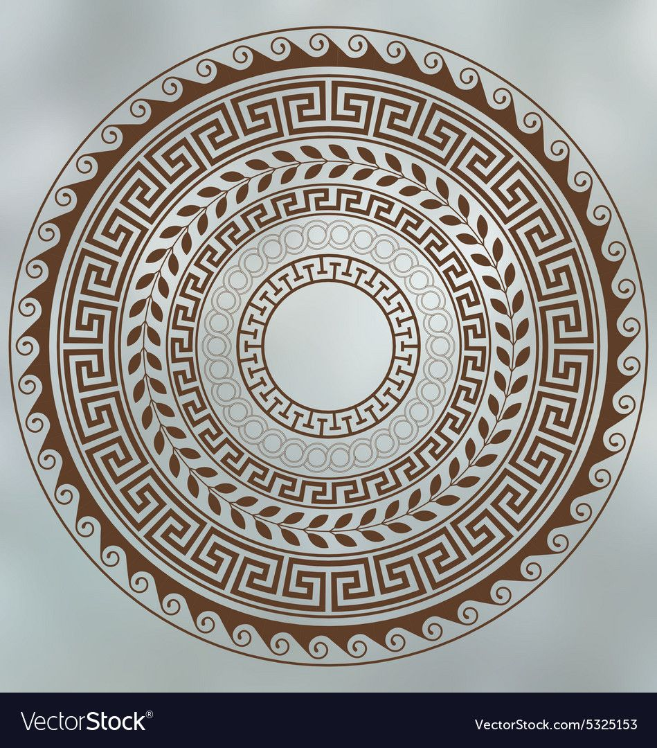 Meander And Wave Ancient Greek Borders Set Of Circular Ornaments Download A Free Preview Or High Quality Adobe Illus Ancient Greek Art Greek Art Greek Pattern