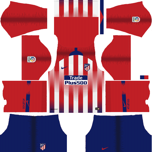 Atletico Madrid Kits & Logo 2018-2019 Dream League ...