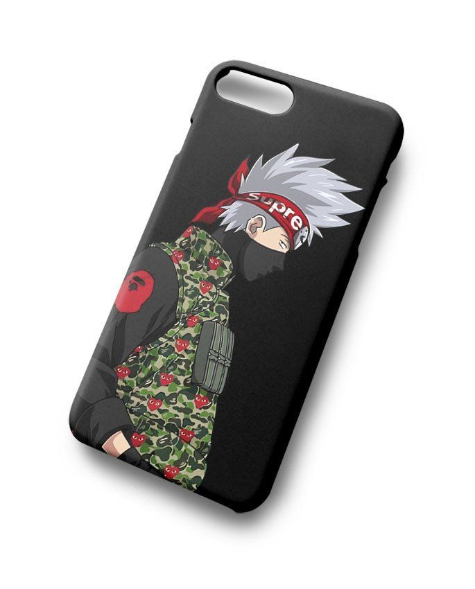 1f42a172316 Kakashi Supreme Comme Bape For iPhone 7 7 Plus 8 8 Plus in 2019 ...