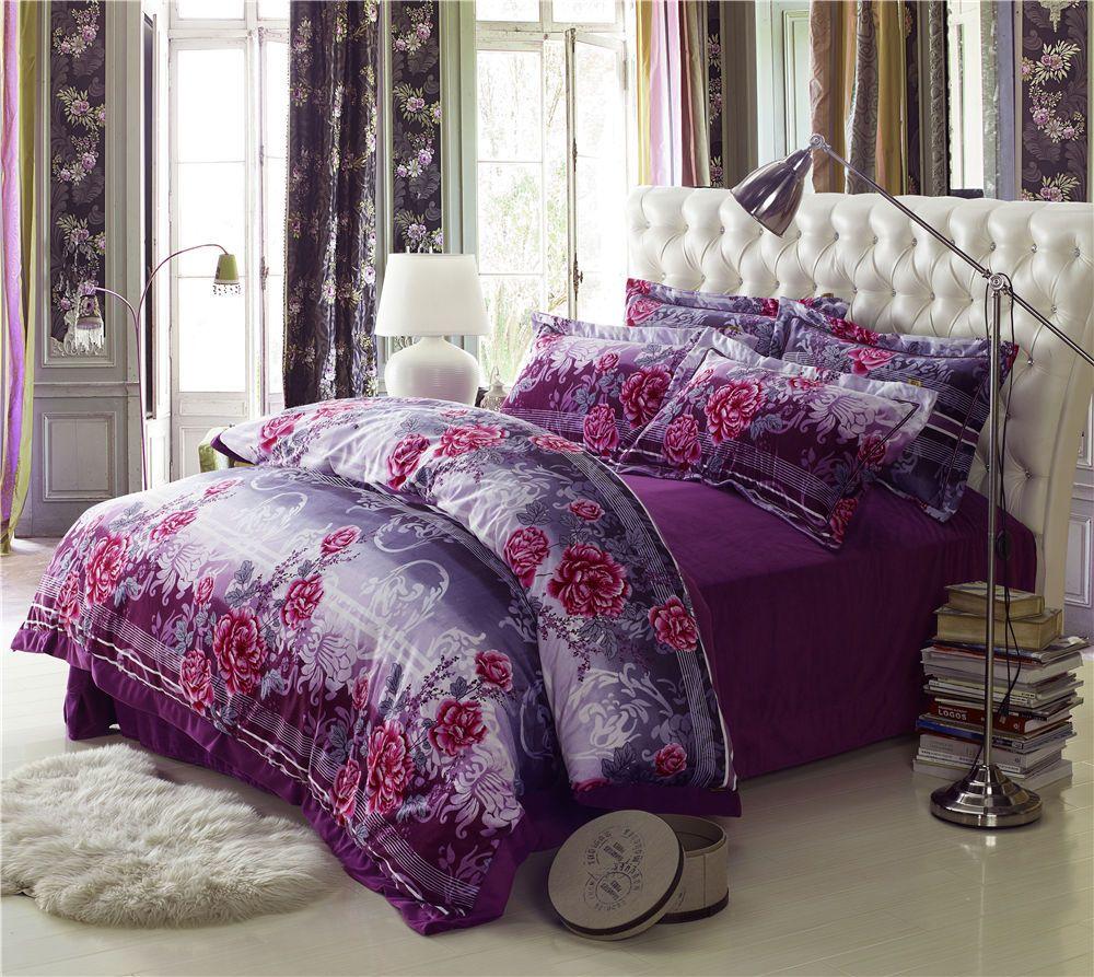 new arrival big peony flower print  piece bedding setscomforter  - new arrival big peony flower print  piece bedding setscomforter sets