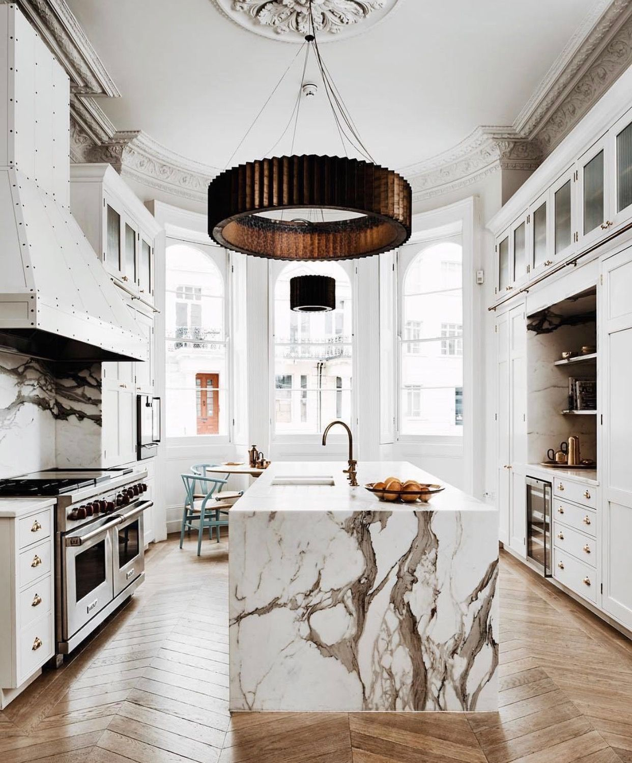 Love These Marble Counters, Kitchen Decor For Chic Apartment Decor