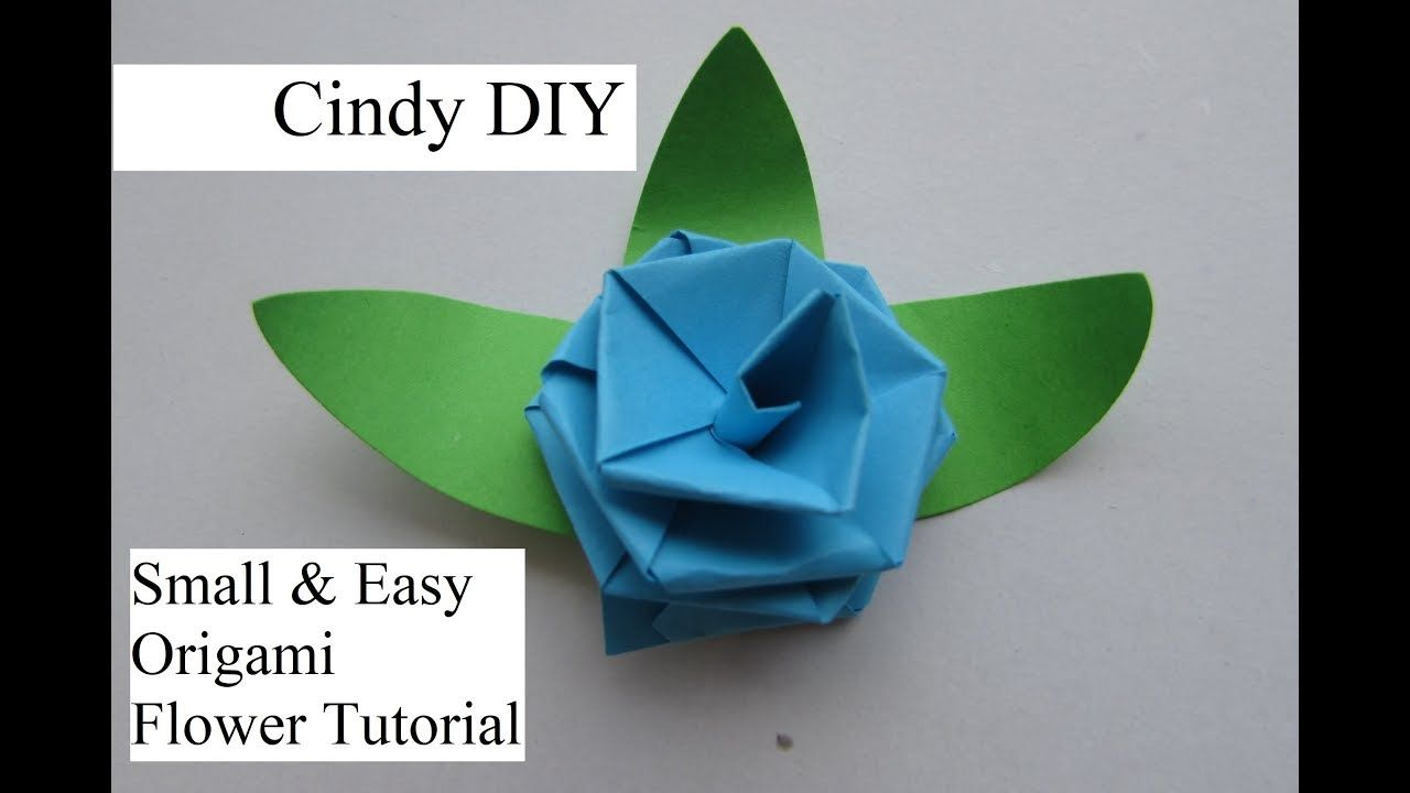 Little flower with 2 strip easy paper craft quick beautiful little flower with 2 strip easy paper craft quick beautiful cindy diy the video in term of small origami flowers easy 3d origami small flower jeuxipadfo Gallery