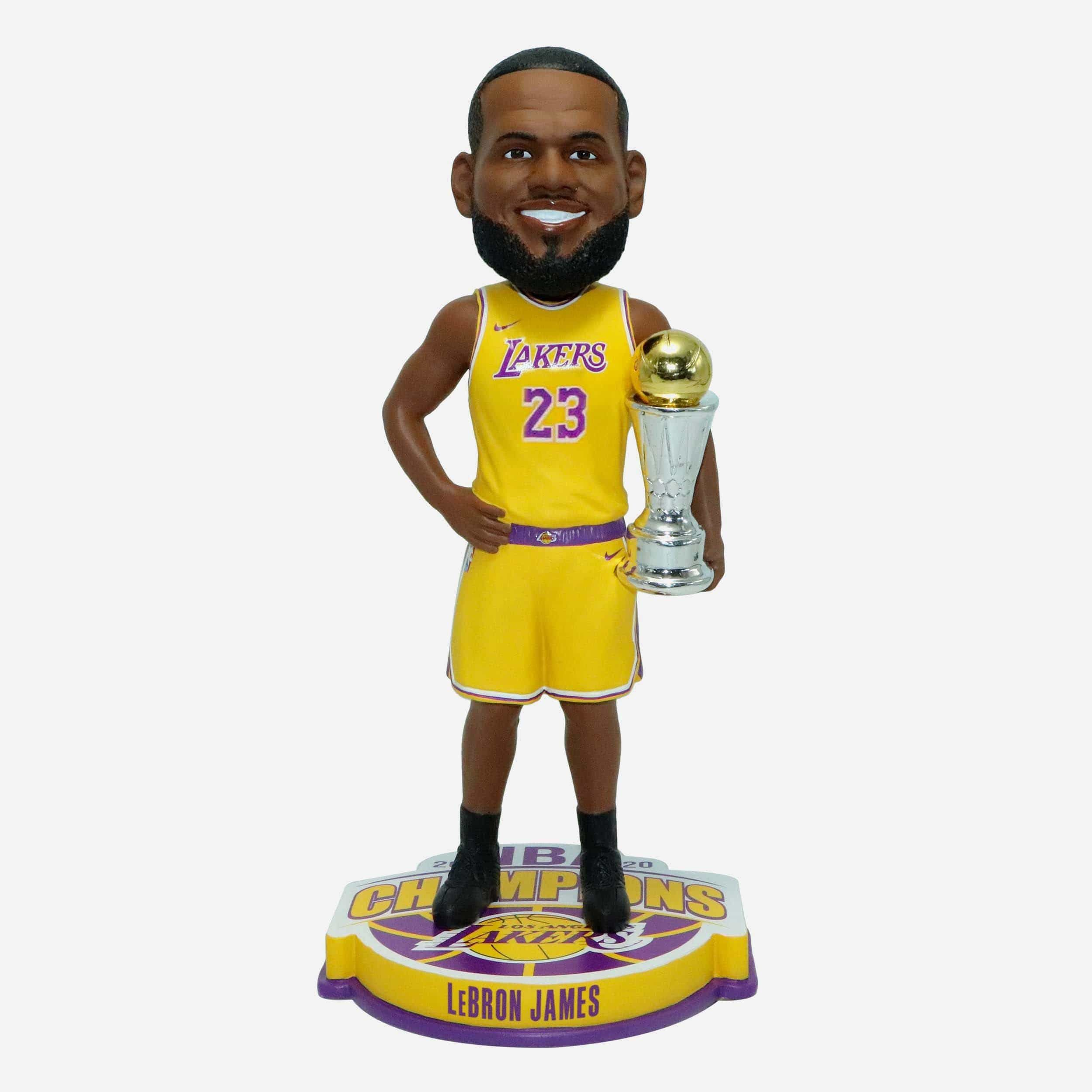 Lebron James Los Angeles Lakers 2020 Nba Champions Mvp Bobblehead In 2020 Los Angeles Lakers Lebron James Nba Champions