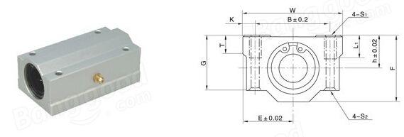 Machifit SCS8//10//12//16//20LUU Linear Axis Ball Bearing Block Long Bearing Block