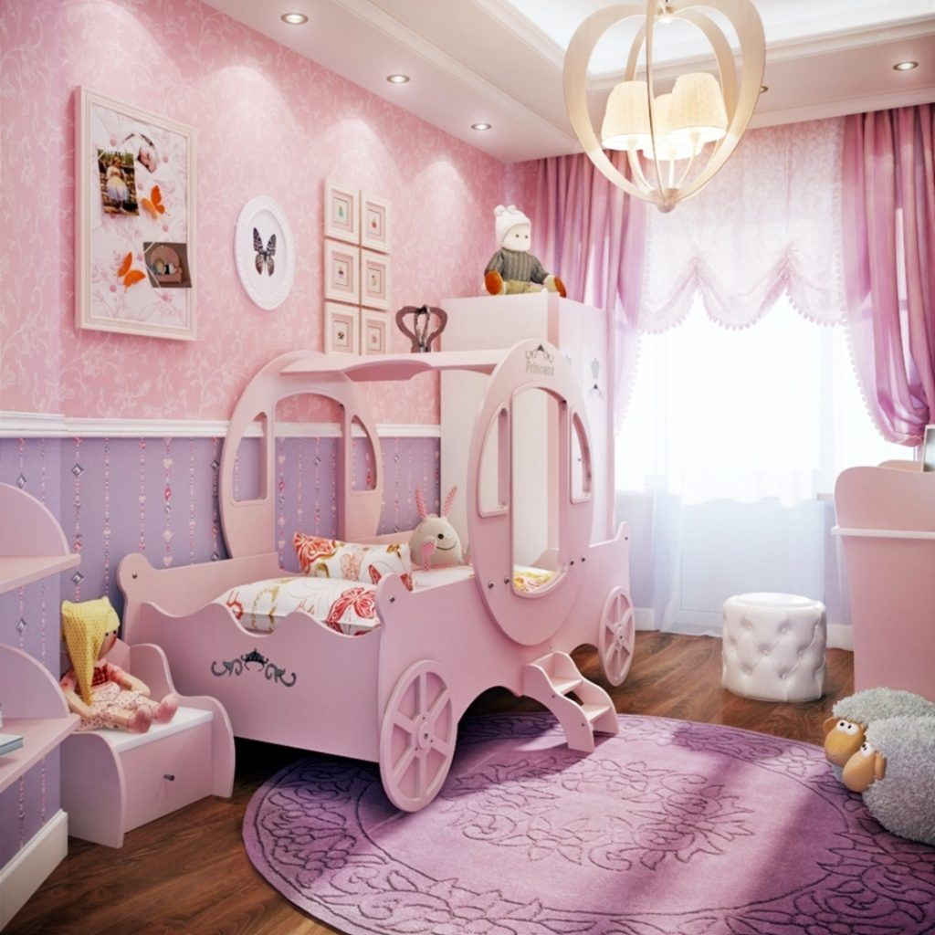 Little Girl S Bedroom Decorating Ideas And Adorable Girly Canopy Beds For Toddler Girls Clever Diy Ideas Toddler Rooms Toddler Girl Room Purple Girls Bedroom