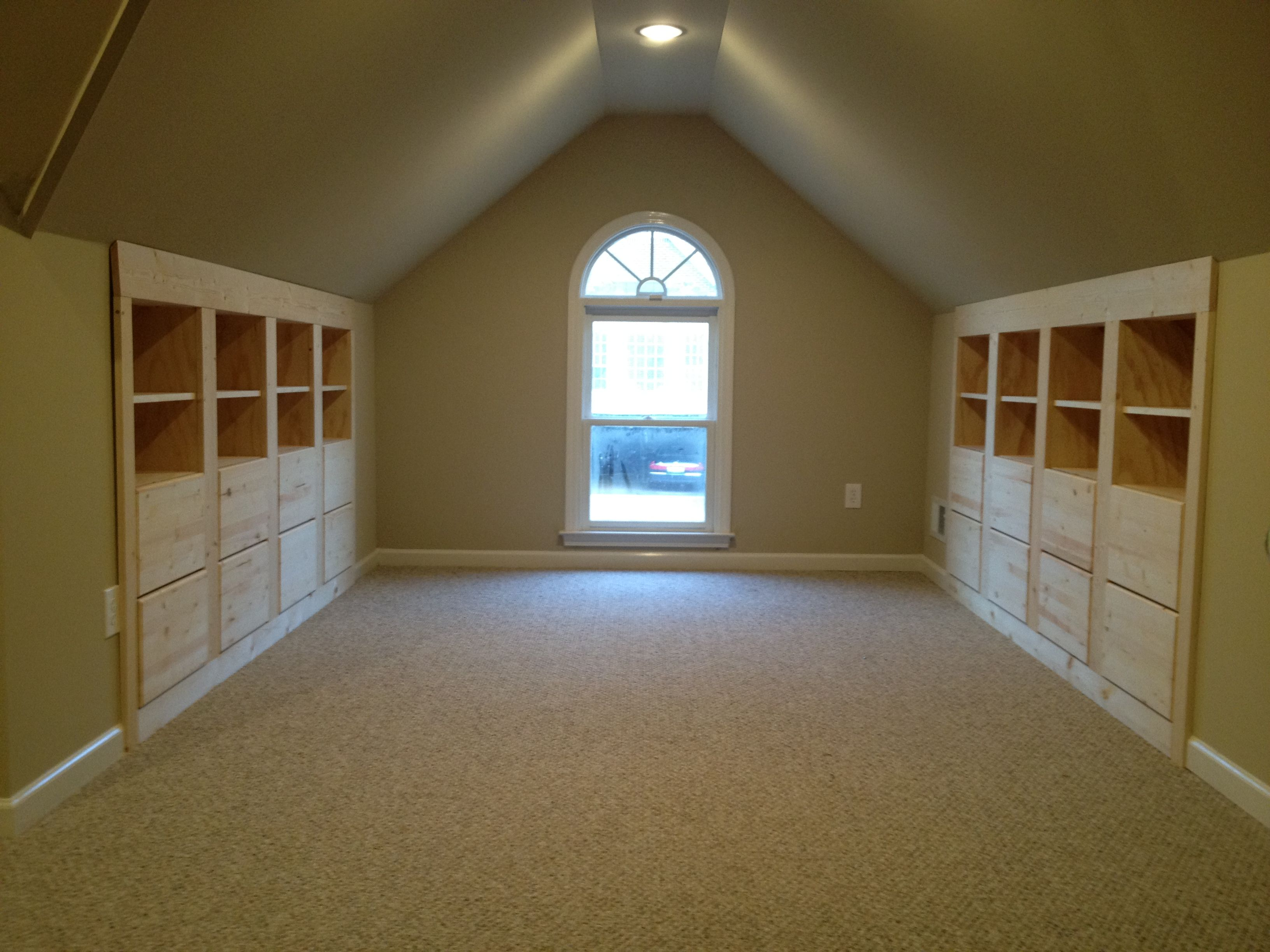 Pictures Of Finished Attics Attic Space Built In Storage This Looks Just Like How Our Space