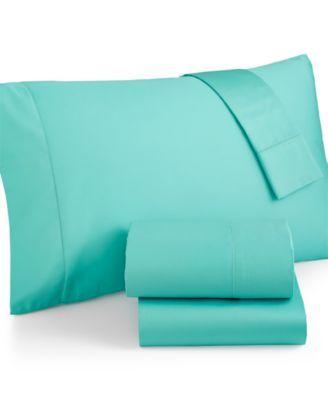 Charter Club King Pillowcases Damask Solid 500 TC Pima Cotton Blue