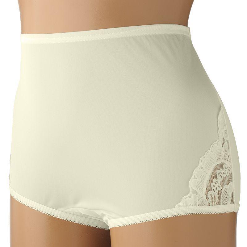 Vanity Fair Women/'s Yours Lace Nouveau Brief Panty 13001 Black 9//2XL New w//o Tag