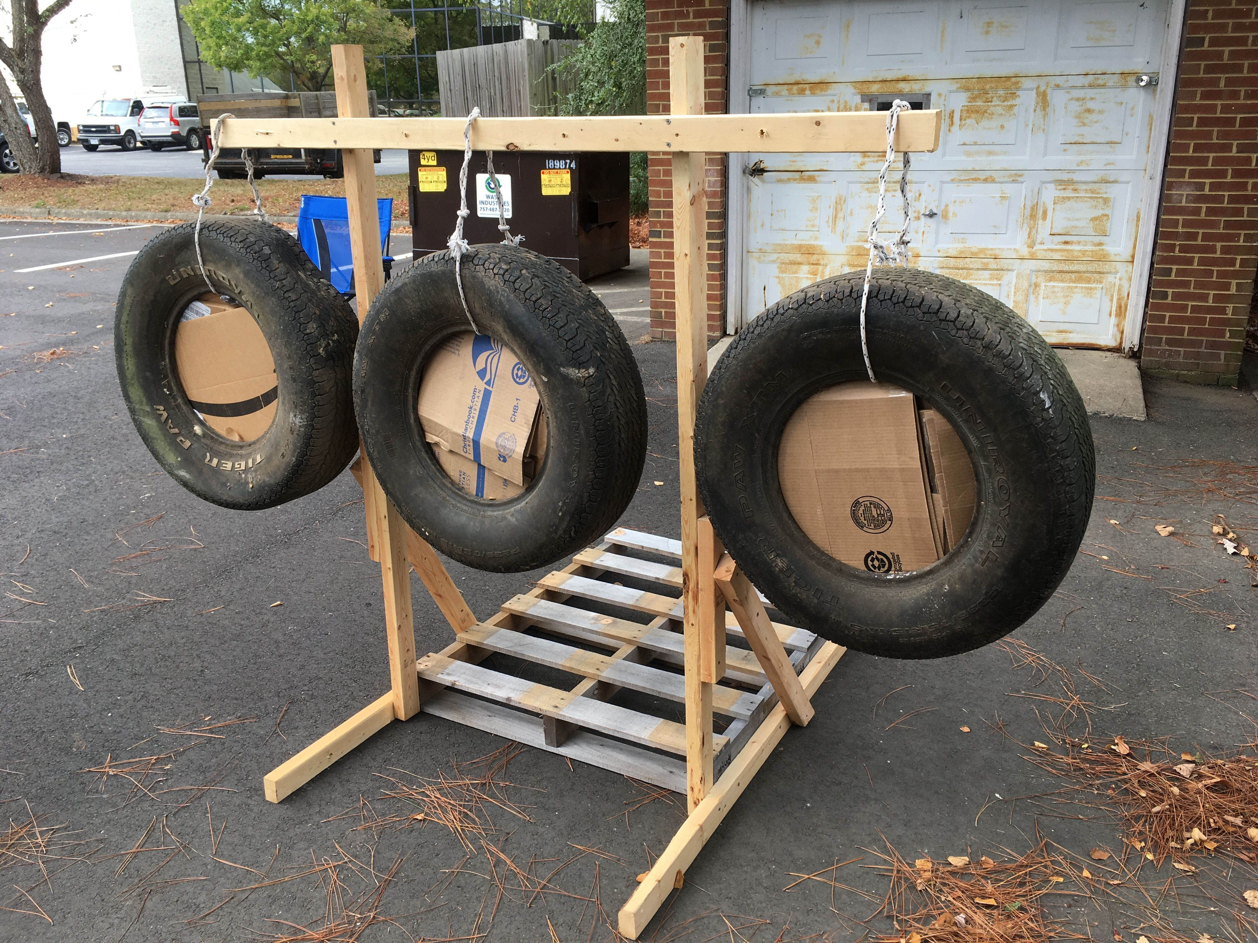 Diy Archery Target Using Tires A Pallet And 2x4 S Tires Diy