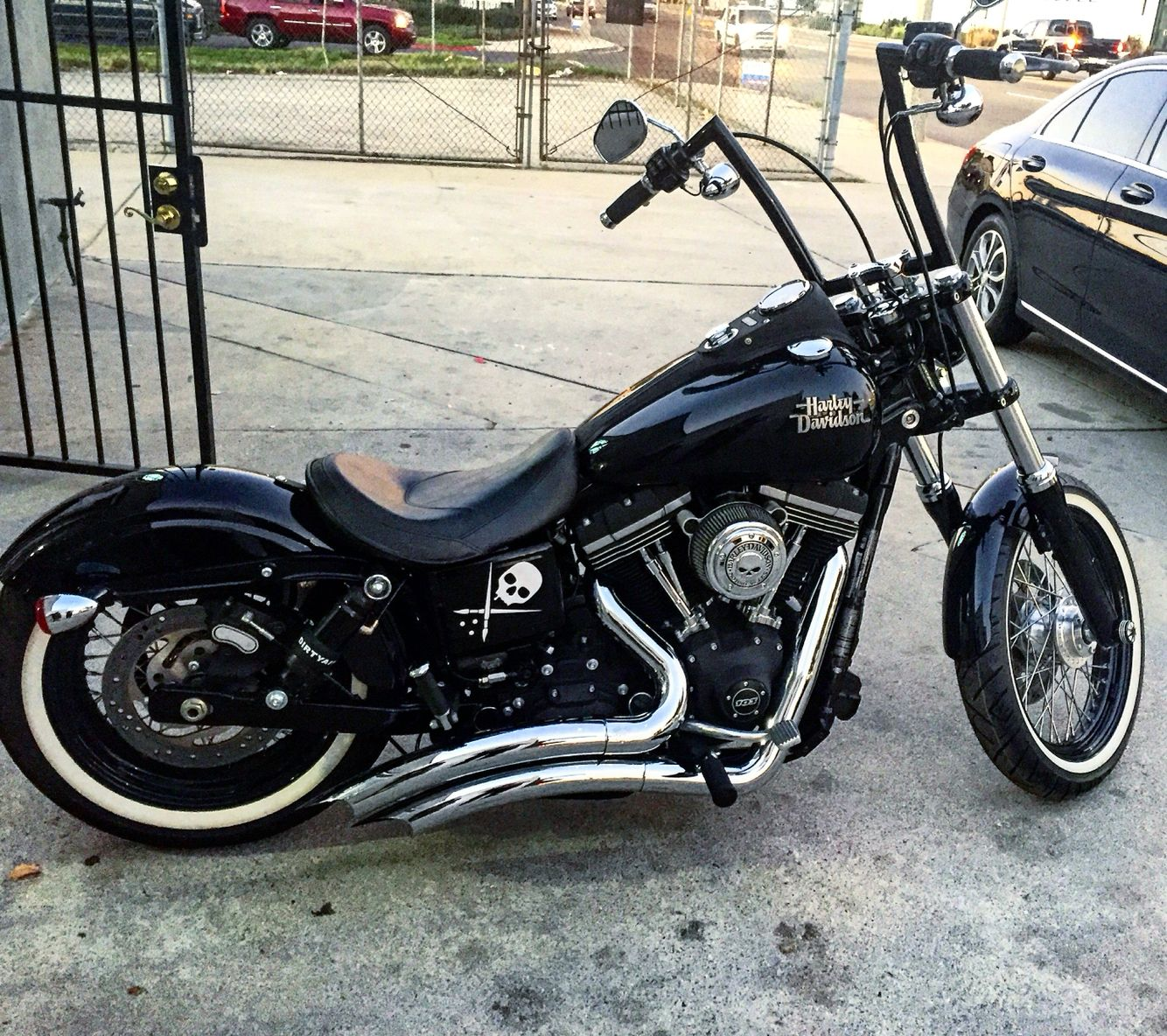 air ride on a 2015 dyna street bob 14 apes custom. Black Bedroom Furniture Sets. Home Design Ideas