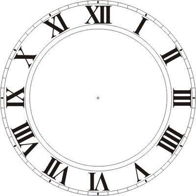 Armbanduhr römische zahlen  Ziffernblatt - römische Zahlen - Uhr - - - - Clock Faces ...