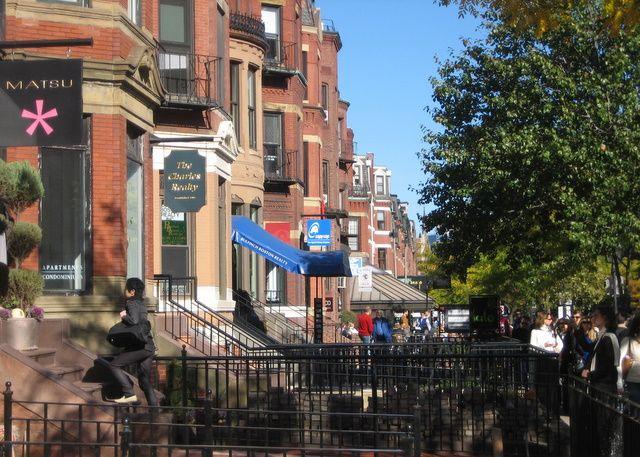 City Of Boston In Massachusetts Newbury Street Boston Newbury
