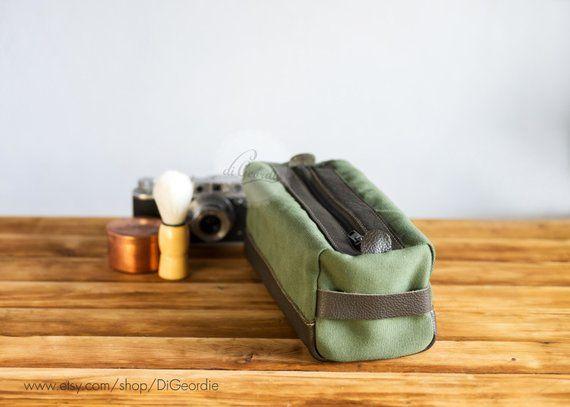 shaving kit bag canvas dopp kit bag leather toiletry bag mens leather dopp  bag leather dopp 431d42f40dae5