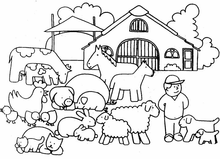 afbeeldingsresultaat voor boerderijdieren kleurplaat met