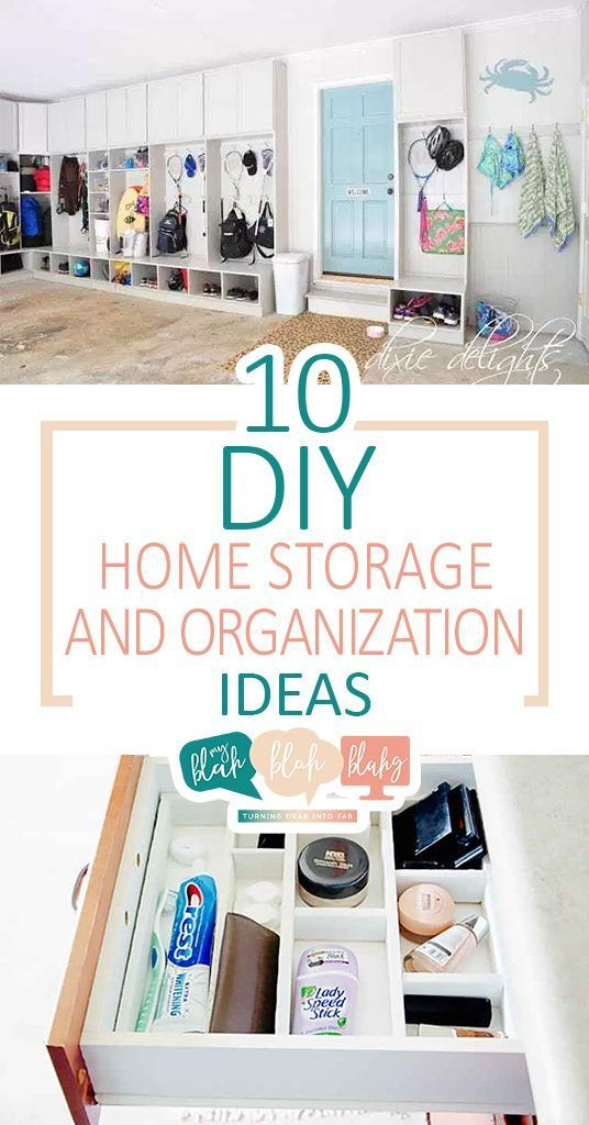 10 DIY Home Storage and Organization Ideas| Home Organization, Home ...
