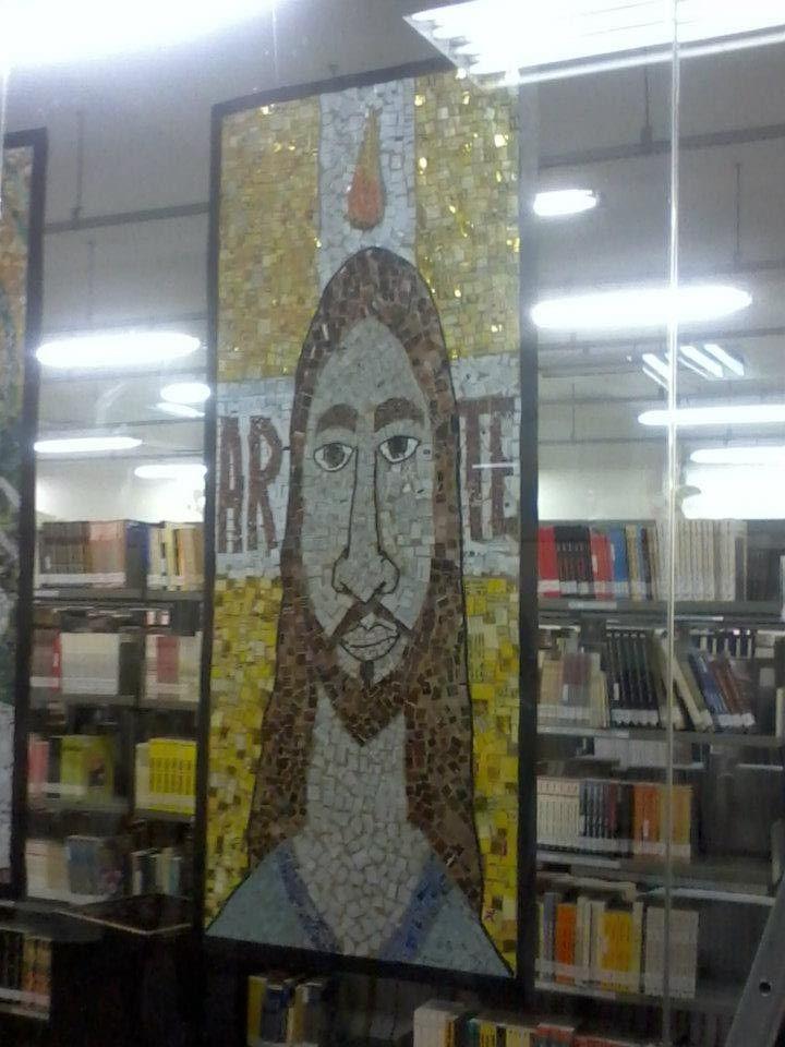 Mosaico Bizantino feito na aula de História da Arte no 1° semestre.