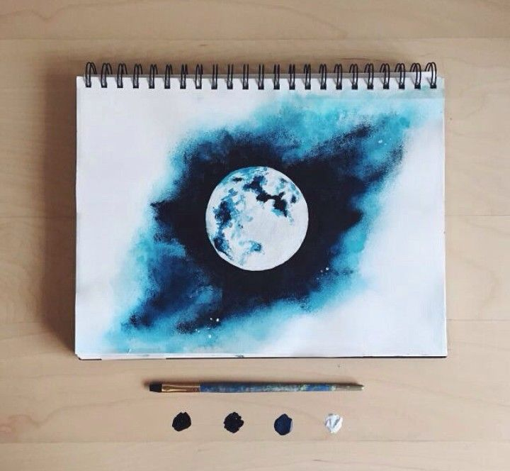 Art Blue And Drawing Image On We Heart It