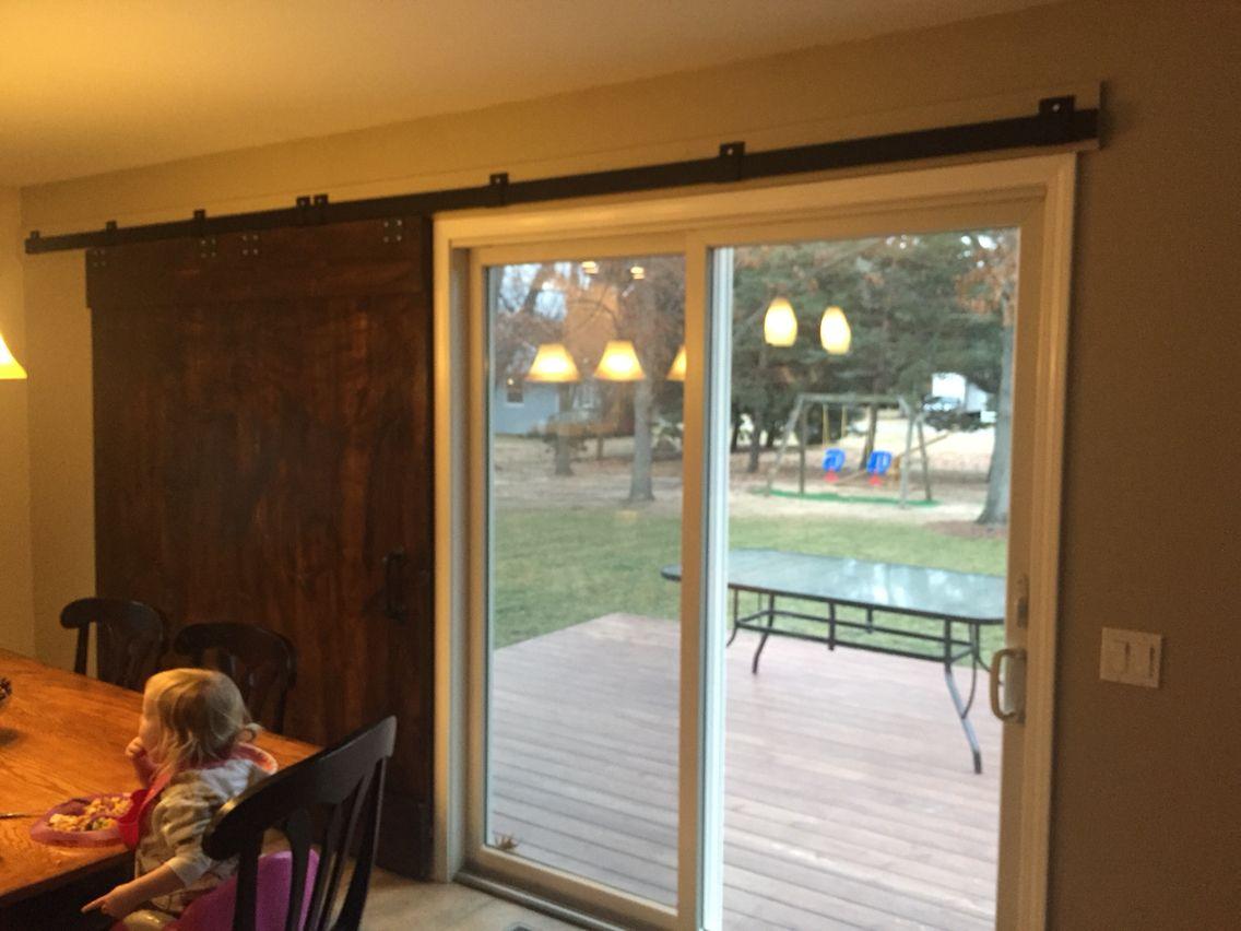 Barn Door Over Glass Sliding Door 2 Interior Barn Doors