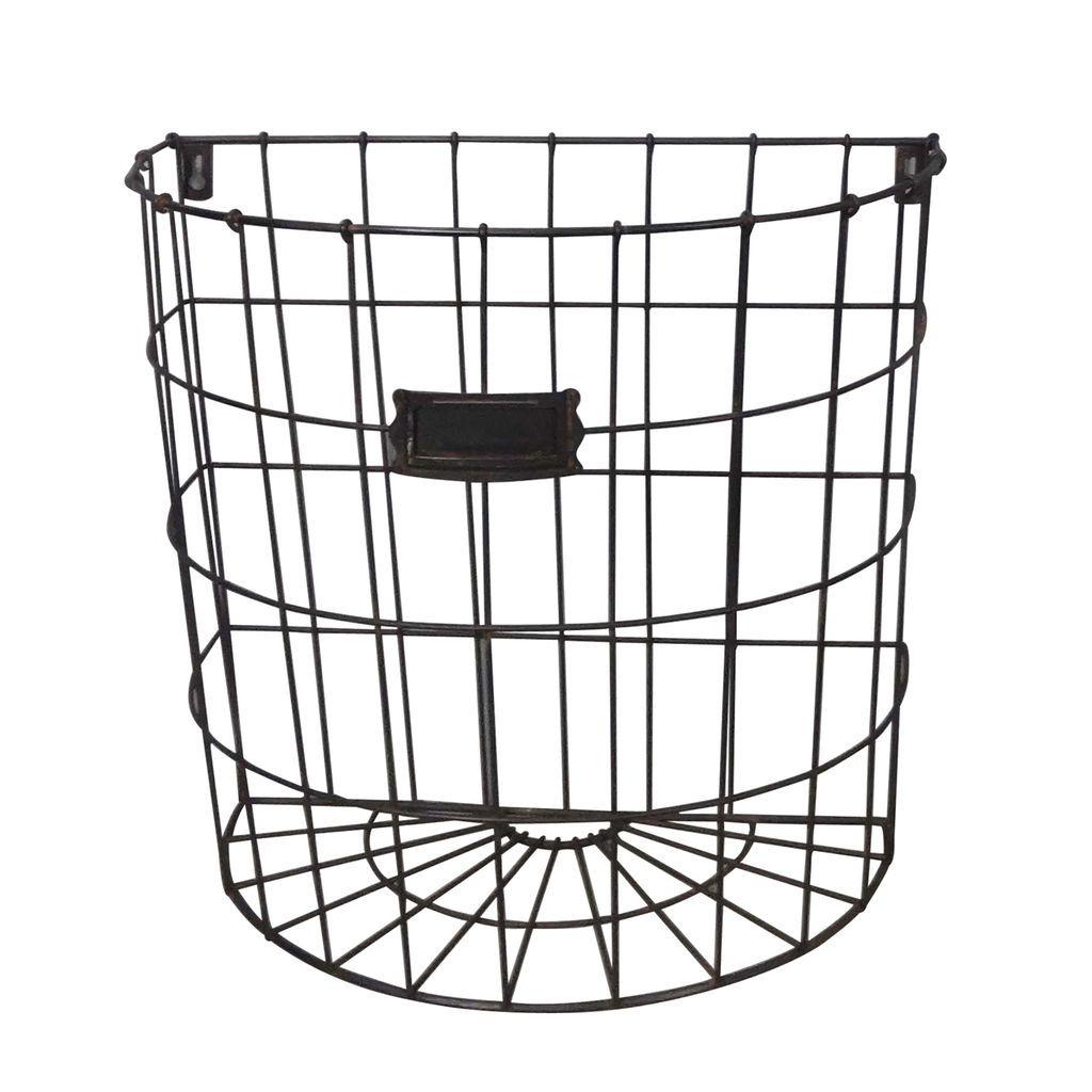 Studio Decor Black Large Wire Basket, Farmington By Studio Décor ...