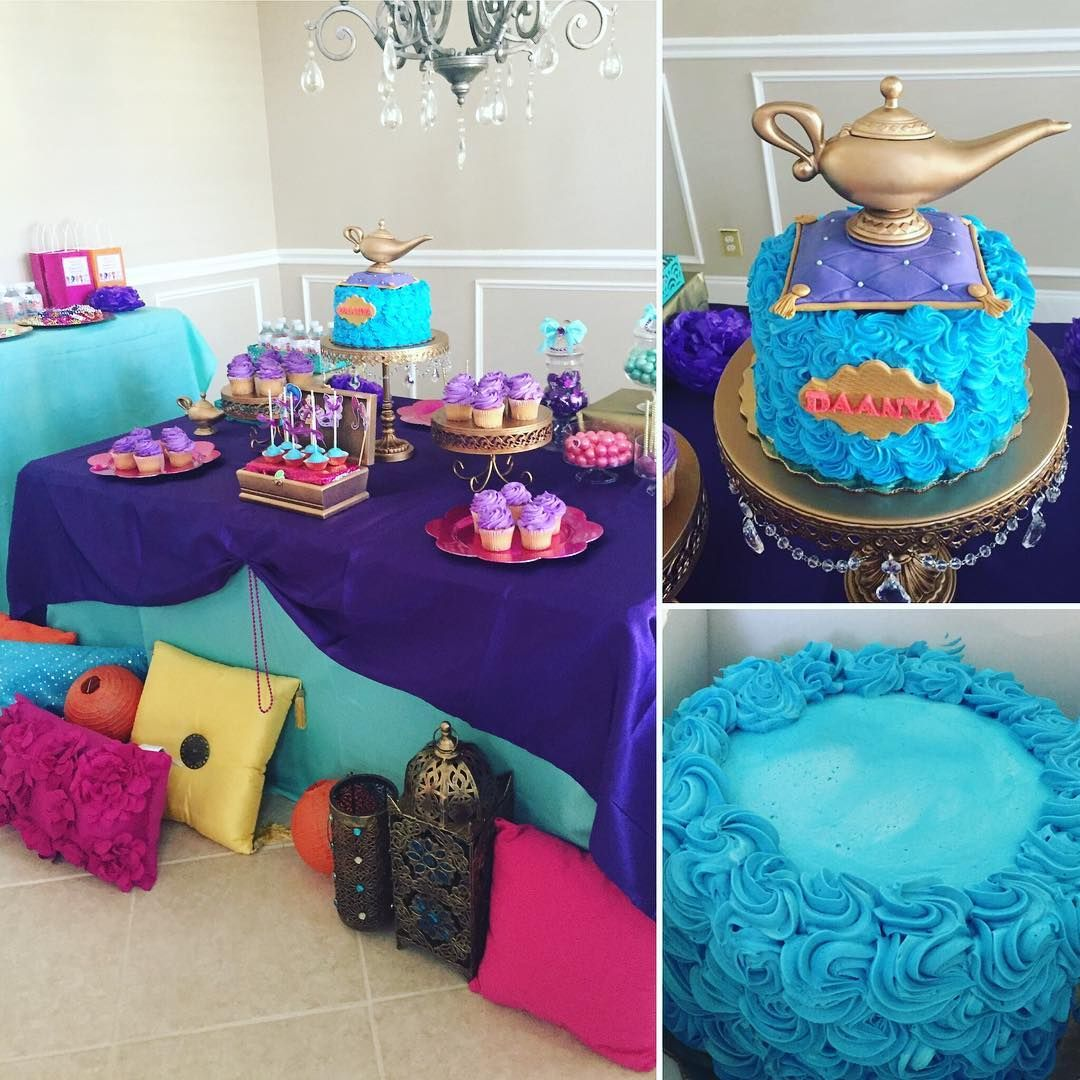 Shimmer Shine Dessert Table With Publix Cake Decorated