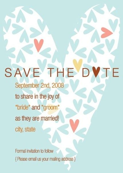 Save The Date Wedding Email Wording
