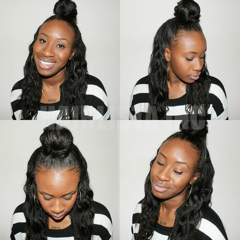 Half Down Top Knot Hairlicious Inc Love It Black Hair Care Crown Hairstyles Hair Projects