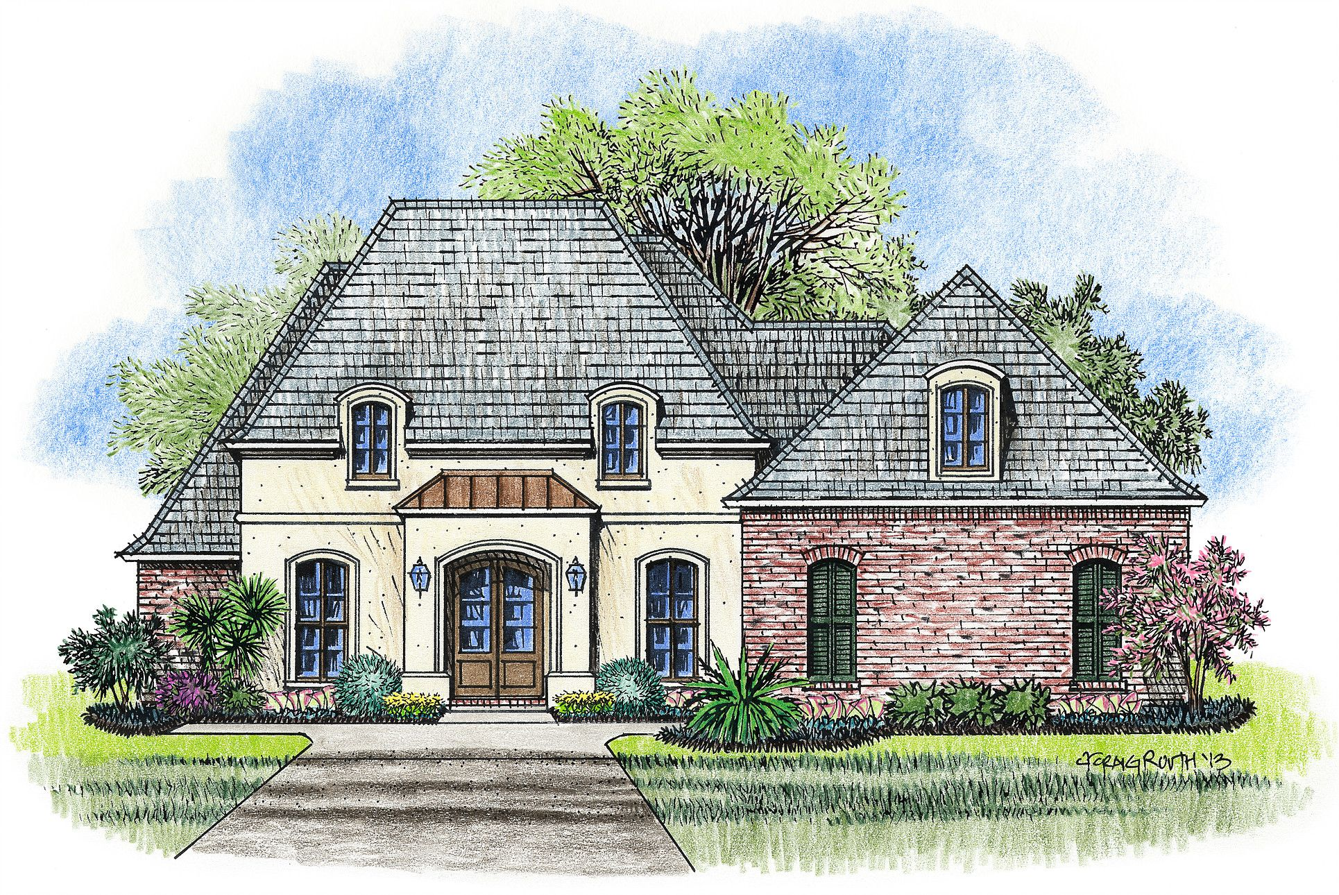 Madden Home Design Beauregard French Country Style House