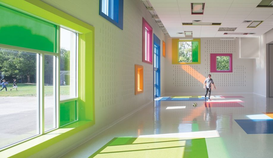 Sporting Multihued Windows This Extension By Taylor Smyth Architects Maximizes The School 39 S