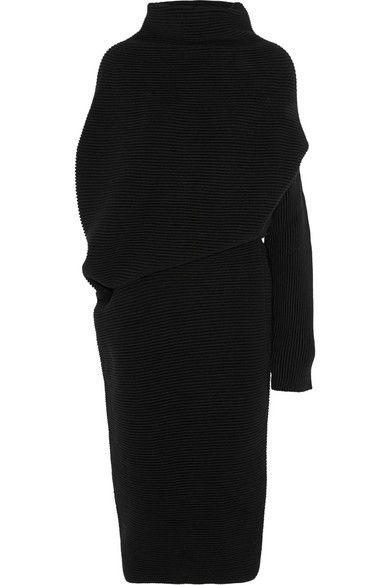 Acne Studios Gala asymmetric wool dress