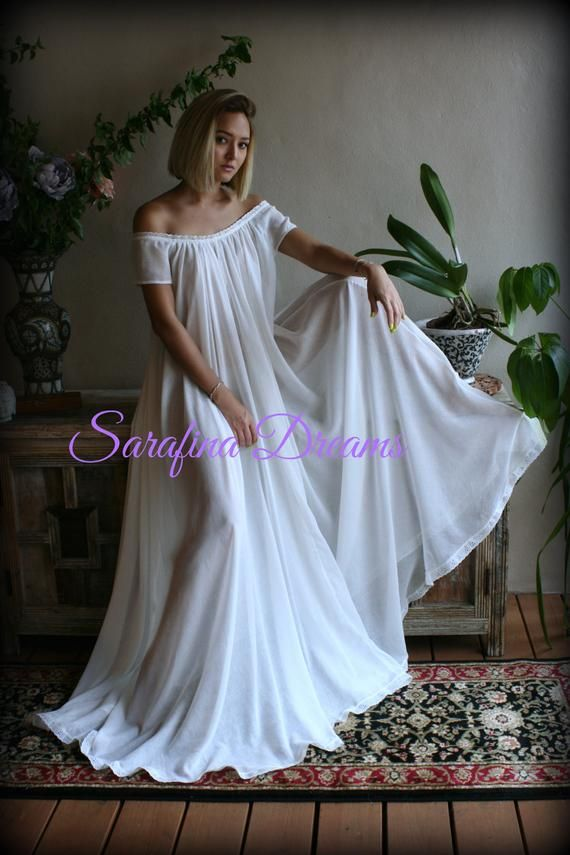 5a081bae9 100% Cotton Nightgown Cap Sleeve Jane Austen Full Sweep Lingerie Sleepwear  White Nightgown Cotton Lingerie Honeymoon Cotton Sleepwear