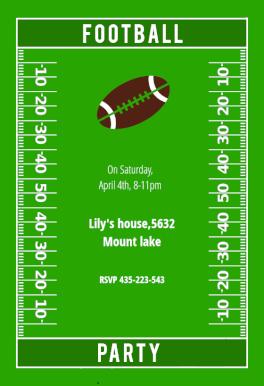 football party party invitation