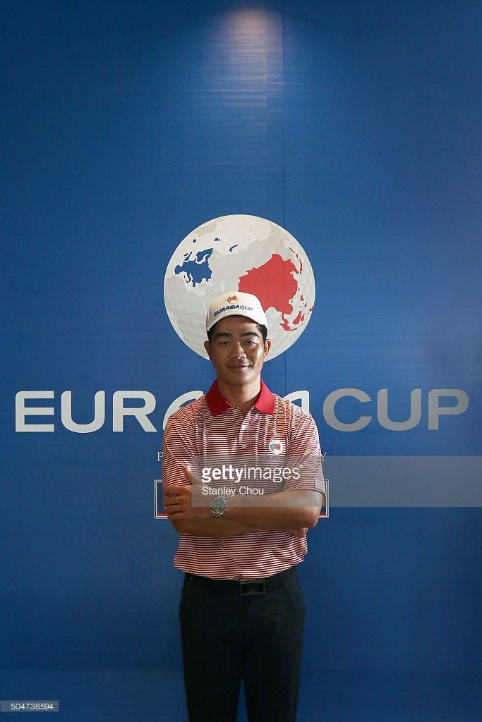Liang Wen Chong captain of Team Asia poses during the press conference ahead of the EurAsia Cup at Glenmarie G&CC on January 13, 2016 in Kuala Lumpur, Malaysia.