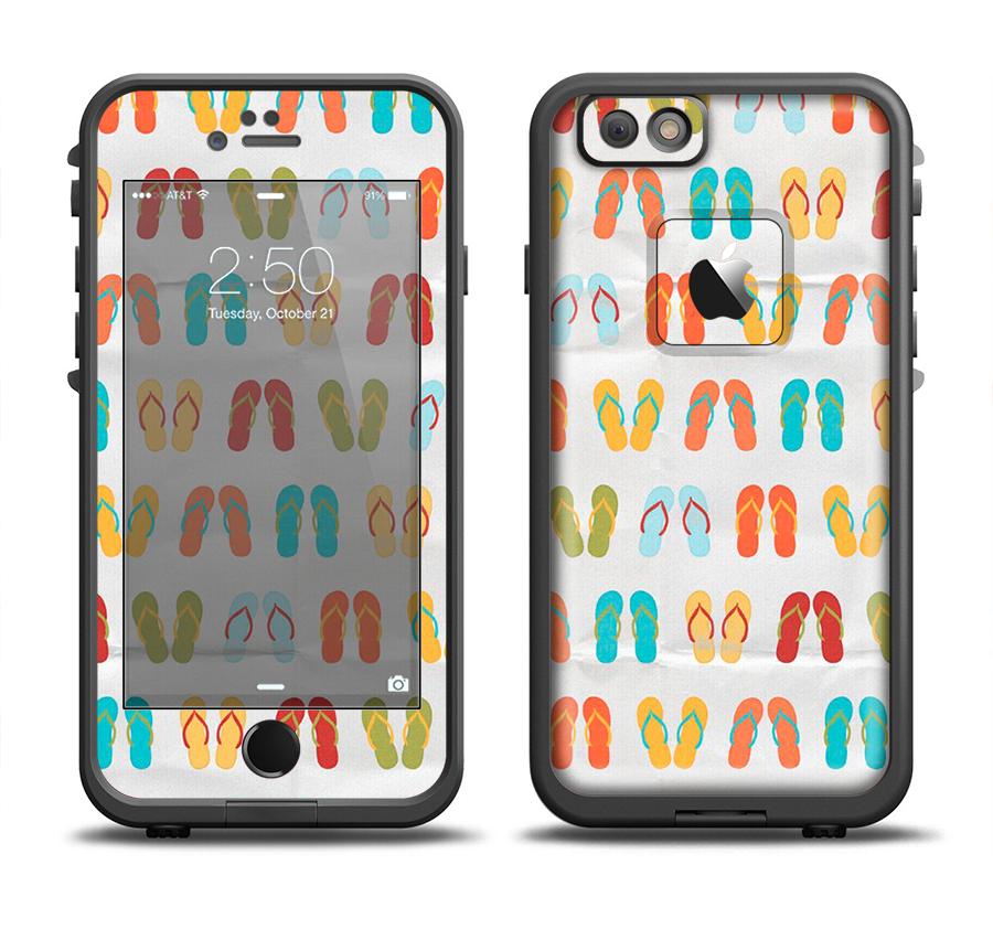 The Vintage Flip-Flops Apple iPhone 6/6s Plus LifeProof Fre Case Skin Set from DesignSkinz