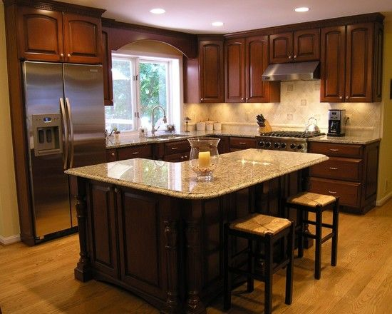 Kitchen L Shaped Islands Design, Pictures, Remodel, Decor and Ideas