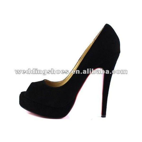9a0b010f5 moda dedo aberto preto charpie salto alto sapatos de mulher ❤ liked on  Polyvore featuring sapatos
