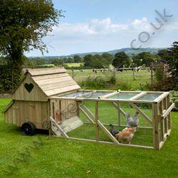 Dorset Ranger Six Chicken Coop with 6ft Run