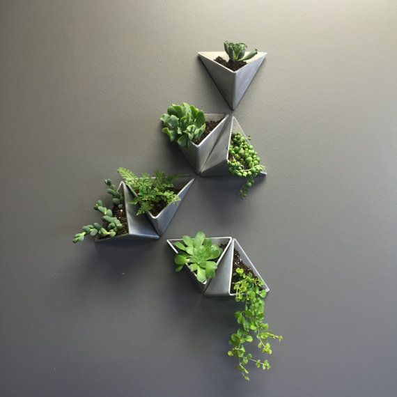 Tessellations //  Set of 5 Aluminum planters.  With limitless arrangement possibilities, each set can be true expression of the owners personalty or
