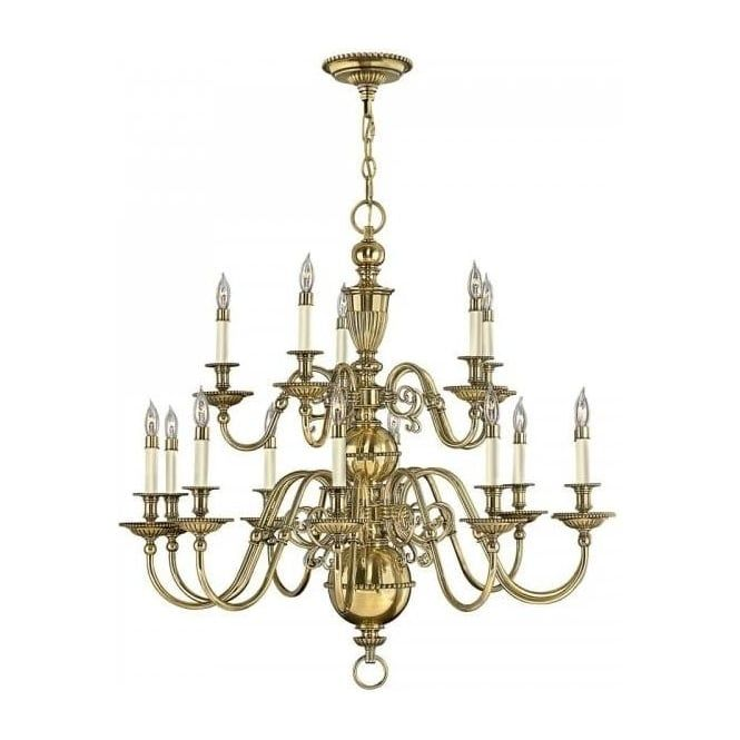 Large Solid Brass Chandelier